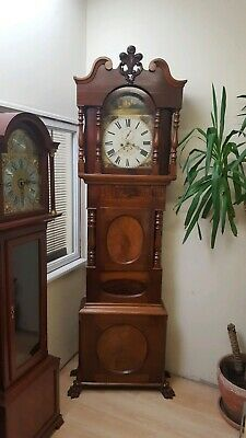Large Victorian 19thc 8 Day  Mahogany Grandfather Longcase Clock Morris Williams