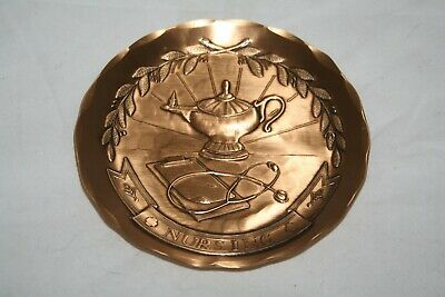 Wendell August Forge Solid Bronze Nursing Nurse Nativity Small Plate Coaster EUC
