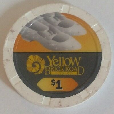 "Yellow Brick Road Casino $1 chip ""Dorothy's slippers"" -Wizard of Oz collectible"