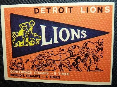 1959 Topps #139 Football Card DETROIT LIONS Team 57 Yrs Old NM/MT Beauty T. Rote
