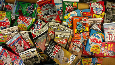 Huge Lot of 55 MLB Baseball Cards In New Old Vintage Unopened Wax Cello Packs