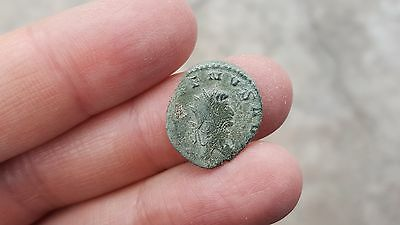 Ancient Roman Bronze Double Denarius, Emperor GALLIENUS, #2