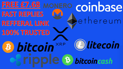 FREE £7 with Coinbase Bitcoin BTC Ethereum ETH Litecoin LTCReferral FAST Reply