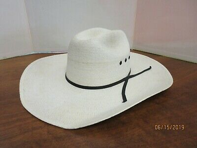 7cb1fca2c ATWOOD HEREFORD LOW Crown Long Oval Cowboy Western COWBOY HAT 7 1/2 ...