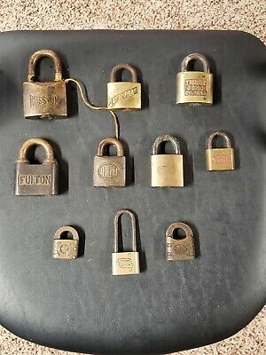 Lot Of 10 Antique Vintage Padlocks