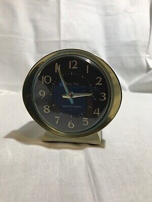 Vintage Working Westclox Baby Ben Wind Up Alarm Clock 58056 Ivory Black Gold