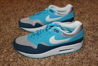 Details about NIKE AIR MAX 1 AH8145 002 WOLF GREYWHITELIGHT BLUE FURYBLUE FORCE SIZE 14
