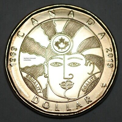 Canada 2019 Equality BU 1 Dollar Canadian Loonie from mint roll