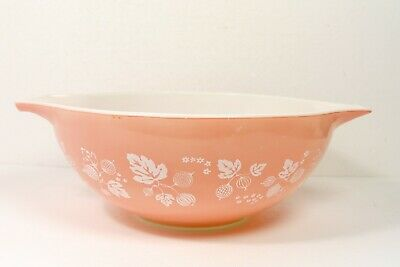 Vintage Large Pyrex 4 Quart Pink Gooseberry Cinderella Bowl #444 PLEASE READ