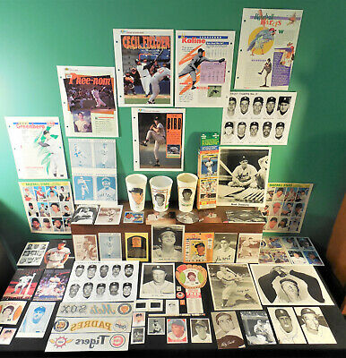Detroit Tigers NICE lot 240+ Postcards stickers TCMA Callahan R423 McCarthy