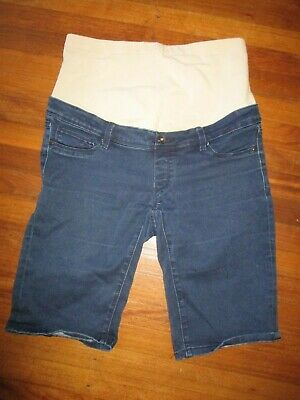 Jeanswest Maternity stretch blue DENIM shorts Size 12  #E