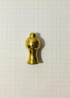 "Vintage Solid  Brass Lamp or Chandelier 1 5/8""  Finial FREE SHPG Finial D"
