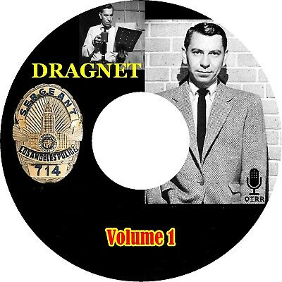 Dragnet Volume 1 of 7 / Old Time Radio / Mp3 (READ) CD