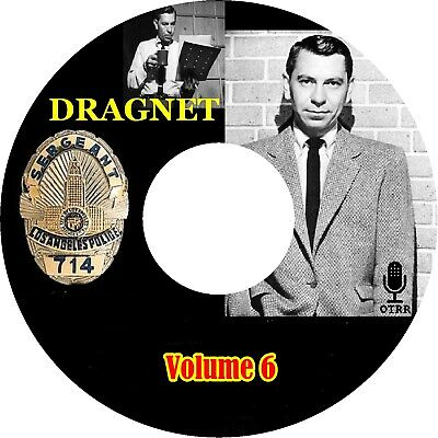 Dragnet Volume 6 of 7 / Old Time Radio / Mp3 (READ) CD