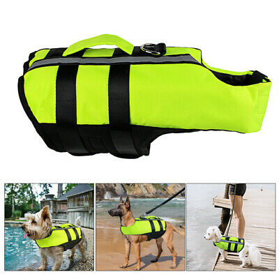 Portable Dog Life Jacket Swimming Float Vest Reflective Adjustable Aid Pet Saver