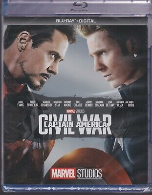 CAPTAIN AMERICA CIVIL WAR BLURAY & DIGITAL SET with Chris Evans & Sebastian Stan