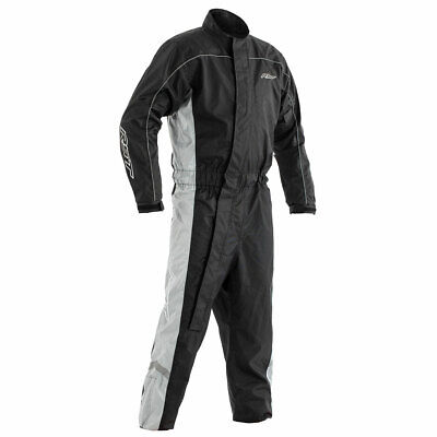 RST Hi-Vis Motorbike Motorcycle Waterproof Suit Black / Grey