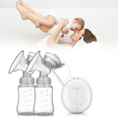 Smoothly Sucked Electric Hand Free Double Breast Pump Automatic Baby Feeder USB.