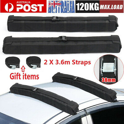 2x Car Roof Rack Soft Rack Luggage Skiing Snowboard Kayak Carrier Mount Holder