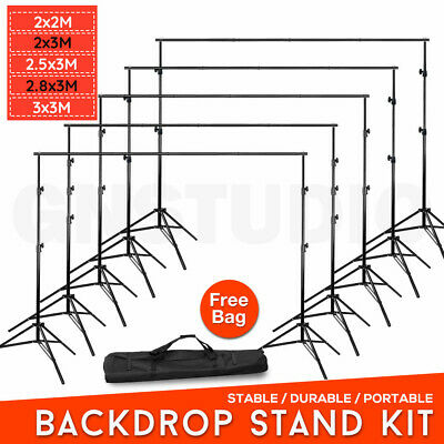 4 Size Adjustable Heavy Duty Backdrop Stand Kit Photo Screen Background Support