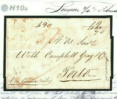 GB Cover 1814 PENINSULAR/AMERICAN WARS Era PORTUGAL MAIL Letter Re Embargo H10a