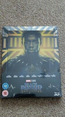 Marvel Black Panther 3D+2D Steelbook (Lenticular Cover) - Brand New