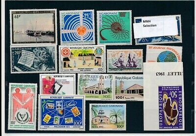D264147 Gabon Nice selection of MNH stamps
