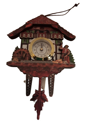 Miniature Cuckoo Clock Holzhacker Magnet Black Forest Watch Gift Souvenir