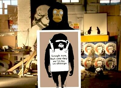 BANKSY - LAUGH NOW - High Res, 310gsm Heavyweight, Museum Grade Print