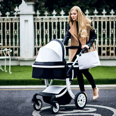 Luxury Baby Stroller Foldable Jogger Carriage Infant Travel System Pushchair