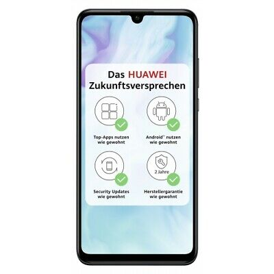Huawei P30 Lite midnight black 128GB 4GB RAM LTE 4G WLAN Android Smartphone