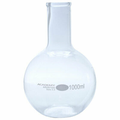 Academy Boiling Glass Flask Flat Bottom 1000ml Pack of 6