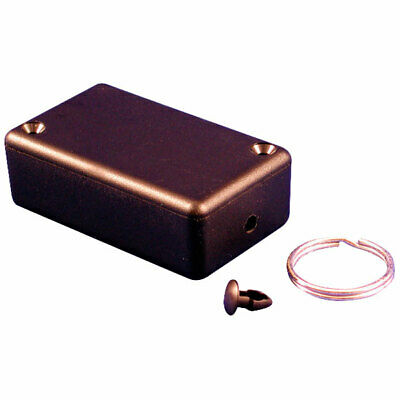 Hammond 1551HRBK Plastic Enclosure 60 x 35 x 20mm Black with Key Ring Kit