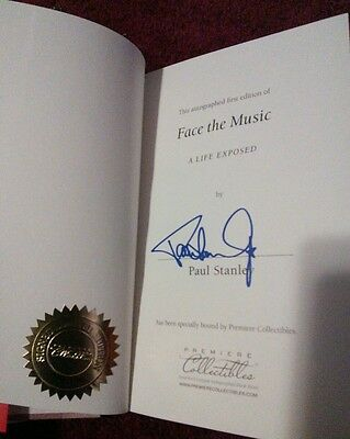 Signed Numbered KISS PAUL STANLEY Face The Music Autographed #1000 + COA 1/1