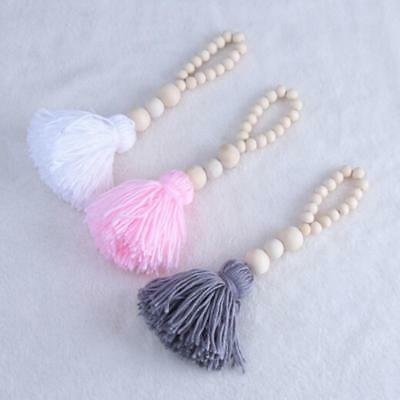 Props Wood Beads String Star Tassels Toys Lovely Wall Tent Hanging Decoration XS