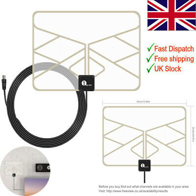 1byone Indoor TV Antenna Digital Indoor HD 0.5 mm Paper Thin TV Aerial Amplified