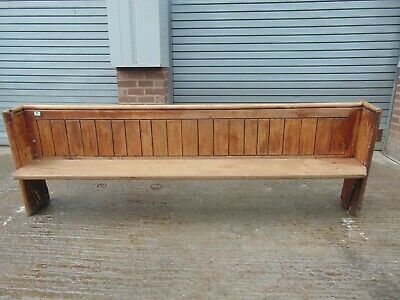 Antique Pine Church Pew 847