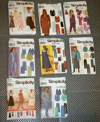 LOT Of 22 Mixed Vintage 1970s & 1980s Women's & Men's Apparel Patterns