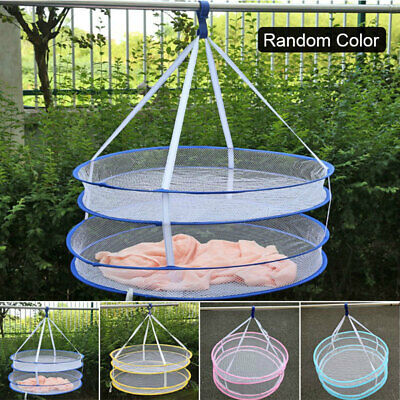 6D44 Hanging Clothes Drying Basket Windproof Clothesline Nylon Mesh Slipper