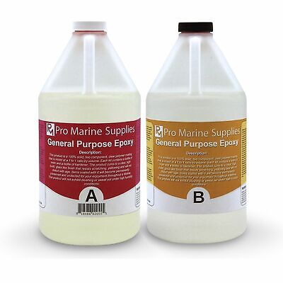 Crystal Clear Epoxy Resin General Purpose Bar Table Top Coating - 1 Gallon Kit !