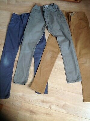 Next boys chinos jeans 12 slim/ skinny fit x3