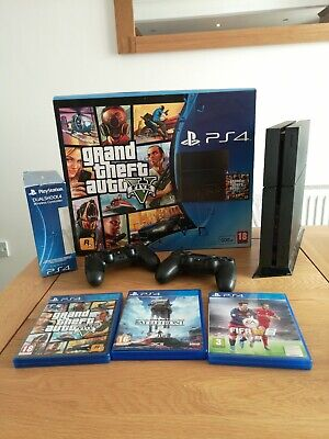 Sony PlayStation 4 GTA5 Fifa Star Wars Battlezone Bundle 500GB Jet Black Console