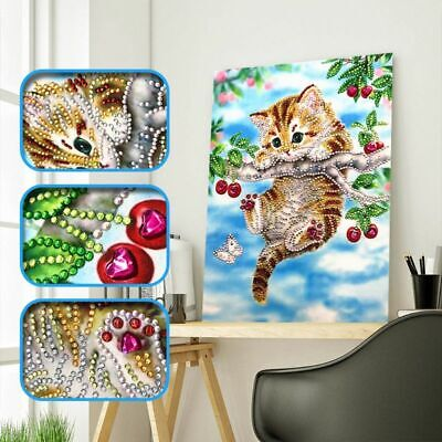 5D Cat Special Diamond Painting DIY Embroidery Cross Stitch Kit Home Decor Craft