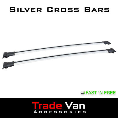 Ford Transit Courier Cross Bars 2014>Silver Rack Crossbars Fits Tx3 Roof Rails