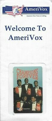 1990's AmeriVox Boxing Champs Muhammad Ali, Plus Collectible Prepaid Phone Card