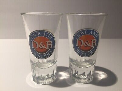 (2) Dave & Busters Tall Fluted Shot Glasses