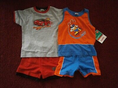 Lot Of 2 New With Tags Boys Healthtex Summer 2Pc Short Sets Size 3T