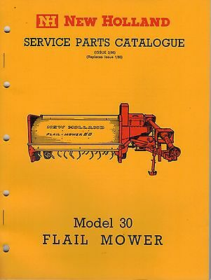 New Holland 30 Flail Mower Service Parts Catalogue 1966  3305F