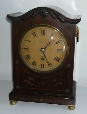 ANTIQUE MAPLE & Co BRACKET CLOCK WITH FUSEE EIGHT DAY MOVEMENT