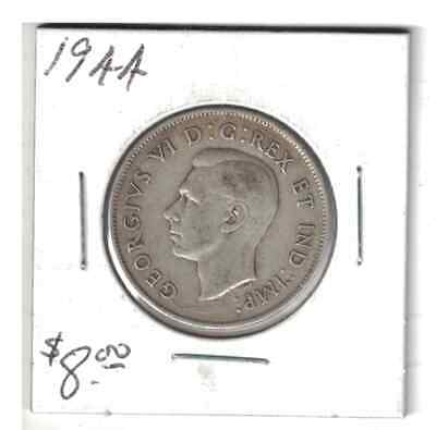 1944 50 cents Silver Coin Canada